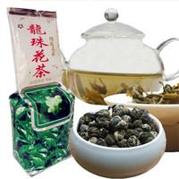 dragão chinês verde venda por atacado-250g chinês Organic Green Tea perfumado Dragon Pearl Flower Saúde Tea Nova Primavera Chá Verde Food Factory Direct Vendas