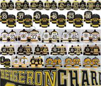 Wholesale Zdeno Chara - Boston Bruins Hockey 4 Bobby Orr 33 Zdeno Chara 37 Patrice Bergeron 40 Tuukka Rask 46 David Krejci 63 Brad Marchand 88 David Pastrnak Jersey