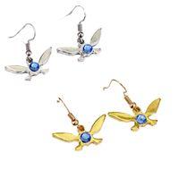 Wholesale fairy fashions - New The Legend of Zelda Navi Earrings Crystal Blue Fairy Dangle Earrings Fashion Jewelry Drop Shipping