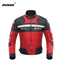 Wholesale Duhan Racing - DUHAN Motorcycle Jackets Motorbike Windproof Racing Jacket Body Armor Protective Moto Winter Motor Jacket Red