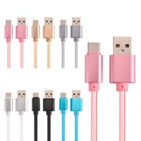 Wholesale I5 C - 1m 2m 3m USB Type C Cable Nylon Line Metal Plug Type-C USB Cable for Samsung S6 S6edge S7 S8 Android for LG G5 I5 6 7 7plus