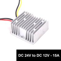 ic player venda por atacado-Carro Auto DC 24 v para DC 12 v Step Down 15A 180 W Truck Car Power Supply Adapter Conversor Redutor Regulador (DC15-40V Entradas)