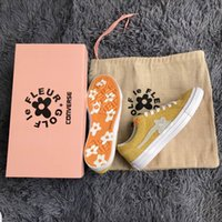 Wholesale Yellow Bowtie - 2018 Outdoor Shoes Con verse one star X Golf le fleur TTC Outdoor Boost Neighborhood Casual Shoes Running shoes Yellow Follower Sneakers