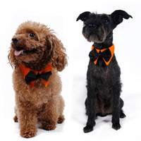 Wholesale Large Dog Bow Tie - Fashion Puppy Tie Double Color With Cotton Pet Triangle Towel For Wedding Party Dog Cat Collar High Quality 5dr B