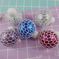 Wholesale Crystal Grape Wholesale - Originality Grape Decompression Ball Colourful Bead Slow Rebound Squishy Mesh Crystal Ball Vent Jelly Balls Tricky Toys New Arrival 1 6tr W
