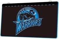 dekor savaşçısı toptan satış-LS812-B-Warriors-Neon-Sign.jpg Dekor Ücretsiz Kargo Dropshipping Toptan 8 renk seçmek için