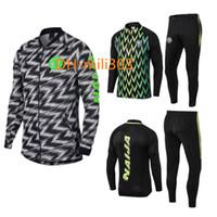Wholesale new train sets - New 2018 Nigeria soccer jacket training suit 18 19 IWOBI chandal Nigeria STARBOY Okocha jerseys set football training suit pants Sportswear