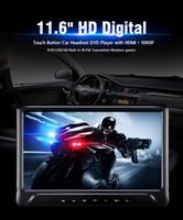 ingrosso installazione dell'automobile dvd-Lettore DVD da 11.6 pollici dvd per auto con lettore dvd per installazione a poggiatesta HD 1080P Sistema di gioco USB SD FM IR