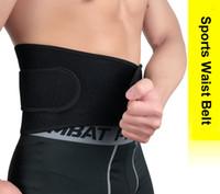 protector elástico de la cintura al por mayor-Elásticos Levantamiento de pesas Cinturones de cintura Soporte lumbar con protección contra lesiones en la espalda Hombres Mujeres Cintura Trimmer Cinturón Protector de engranajes Ajustable H727F