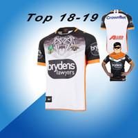 Wholesale western shirts xl - 18 19 Western Tigers Rugby Home jerseys New Zealand NRL Rugby suit wests tigers jersey 2018 National Leagues West Tiger Away Rugby shirt