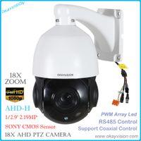 ptz camera pan tilt zoom achat en gros de-okayvision 2.0MP AHD Speed Dome Caméra extérieure Pan / Tilt Zoom optique 18X 1080P Prise en charge de la caméra PTZ RS485; Contrôle coaxial XM