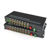 Wholesale Analog Receiver - 16 Channel Digital Video Fiber Optical Media Converters Transmitter Receiver with RS485 Data -For CCTV Analog Cameras