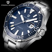 Wholesale Black Dive Watches - PAGANI DESIGN Men's Classic Diving Series Mechanical Watches Waterproof Steel Stainless Brand Luxury Watch Men Relogio Masculino