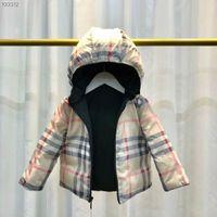 meninas quentes para baixo jaqueta venda por atacado-Venda quente marca crianças 90% de pato branco para baixo Parka jaqueta com capuz para baixo casaco menina e menino jaqueta Parka 2T-6T