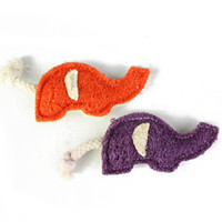 Wholesale cleaning animals online - Luffa Luffa Pet Chews Toy Elephant Shape Mini Healthy Cleaning Digestibility Colorful Cat Dog Toys The Cheap bq Y
