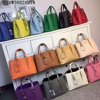 Wholesale steel lettering - AAA Women 1BG820 2 Adjustable Handles Saffiano Leather Totes Nappa Lining Metal Lettering Logo Steel Hardware with Dust Bag Free Shipping