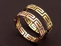 Wholesale wall stone - The new Great Wall Rose gold ring titanium steel fashion simple female models hot sale