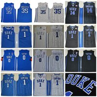 Wholesale duke blue - College Basketball Duke Blue Devils 35 Marvin Bagley Jersey III Hill 1 Kyrie Irving 0 Jayson Tatum University Black White Blue Man Stitched