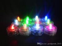 nachtlichtfarben großhandel-LED Kerzenlicht Wasserdichte Hochzeit Lichter Lichter Dekoration 7 Farben Flammenlose LED Kerzenlampe Nachtlichter Mit Swivel c568