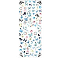 Wholesale fingernail art wraps for sale - Group buy New Fashion Sheet Nail Design Water Transfer Colored Butterfly Nail Wraps Art Sticker Fingernails Decals