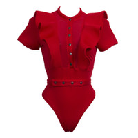 989f3ddf8c Womens Mesh Rompers Jumpsuit Summer Playsuits Ladies 2018 Fitness Sexy  Hollow Out Bandage Lace Up Bodysuit Overalls