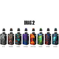 Wholesale cloud kit for sale - Group buy VOOPOO Drag Kit W Drag Mod with Uforce T2 Tank Unique Resin Panels OLED Screen New Mesh Coils Produce Great Taste and Stronger Clouds