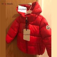 jaqueta de inverno para crianças venda por atacado-Novíssimo Crianças 90% de pato branco para baixo Inverno jaqueta Crianças quente grossa jaqueta com capuz capuz Meninos Meninas Casacos Casual