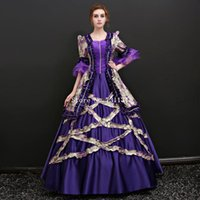 victorian elbiseler belle toptan satış-Gürcü Antik Victorian Southern Belle Vintage Wonderland Elbise Prenses Tiyatrosu Reenactment Giyim