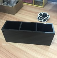 Wholesale acrylic make up storage for sale - Group buy Luxury fashion grids black Acrylic storage lipsticks holder Make up brush Storage Case Jewelry Organizer With box Counter gift for vip