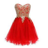Wholesale burgundy prom dresses resale online - Short Prom Dresses Burgundy Homecoming Dress Party Red Blue Pageant Gowns Special Occasion Dress Dubai Beads Pearls Lace Up Cheap