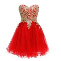 mini vestido rojo de bienvenida al por mayor-Vestidos de fiesta cortos 2019 Vestido de fiesta de color burdeos Vestidos de fiesta Rojo Azul Vestidos para ocasiones especiales Vestido Dubai Beads Pearls Lace Up Cheap