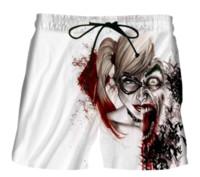 mulheres joker calças venda por atacado-Nova Moda Harley Quinn Joker Calças Curtas Deliciosa Molho De Chocolate Imprime 3D Shorts Mulheres Homens Hipster Praia Shorts Frete Grátis DK04