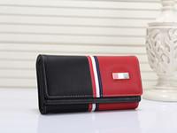 mujeres de moda rock al por mayor-Cartera de diseñador de color rosa sugao 6 carteras de moda en color de alta calidad de cuero de la pu famosa marca de la carpeta de las mujeres de los hombres carta de impresión billetera de lujo Tambrand