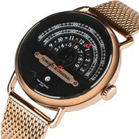 Wholesale Mesh Display - Creative Watches Luxury Men Quartz Wrist Watch Mesh Stainless Steel Band Sport Auto Date Display Watches