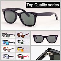 16f30f0dee4 lunettes de soleil de modèle classique de qualité supérieure fait de  véritables montures en acétate de verres de verre réels lunettes de soleil  avec tous ...