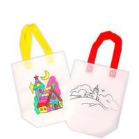 renkli diy boyama toptan satış-DIY Çizim Graffiti Renk Çanta Çocuk Öğrenme Eğitim boyama Oyuncaklar Çanta Bebek Noel Cadılar Bayramı Hediyeler için 17 stilleri C5232