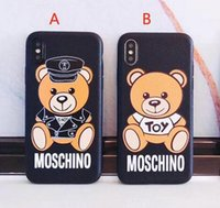 Wholesale yellow bear cases - High quality cartoon bear mobile phone shell case for iphone 6 6S 7 7 plus 6plus TPU silicone soft shell back cover for iphone 8 8plus X