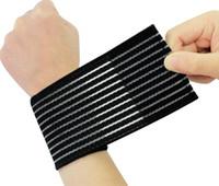 suporte elástico venda por atacado-Venda quente Elastic Ajustável Esporte Bandagem Pulseira Mão Ginásio Apoio Wrist Brace Envoltório de Tênis de Fitness Ligaduras