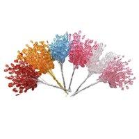 bouquets acryliques achat en gros de-10x Mini Gouttes Acryliques Bouquet Artificiel Scrapbooking DIY Guirlande Accessoires De Noce Fleur De Bouquet Décoratif Fleur