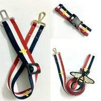 Wholesale safety dog collars online - Red Black Dog Traction Rope Poodle Schnauzer Chest Straps Collar Leashes Automobile Safety Traction Belt Pet Supplies sj bb