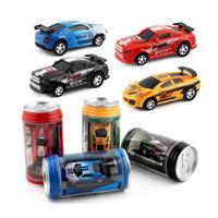 Wholesale Brushless Electric Rc Cars - Hot sale 4 col Mini-Racer Remote Control Car Coke Can Mini RC Radio Remote Control Micro Racing Car