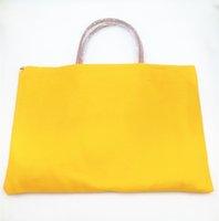 marca de saco france venda por atacado-Designer de moda França Paris estilo de luxo mulheres senhora bolsa de marca bolsa de compras sacolas com guarnição de couro genuíno e alça