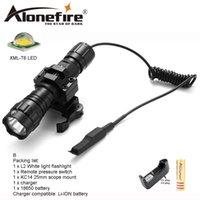 lámparas de caza cree al por mayor-AloneFire 501Bs Tactical LED linterna CREE XM-L T6 luces blancas luz portátil antorcha lámpara de caza para 18650 batería