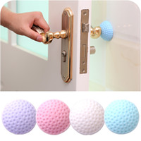 Wholesale stopper door guard for sale - Group buy Door Handle Bumper Guard Stoppers Wall Shield Protector Self Adhesive Silicone Rubber Round Door Knob Stopper