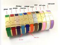 Wholesale Black Chain Link Belt - Fashion Clsssic Jewelry H Letter Black Bangle For Women Men Gold plated Wristhand Belt Bangles Cuff Buckle love Bracelets