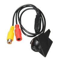 Wholesale cmos ccd waterproof camera resale online - 50PCS Universal For VW Front CCD Camera PZ400 DZ DC V High Definition Night Vision Waterproof IP67 Degree Lux CMOS Car Parking System