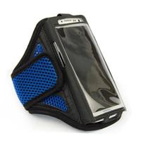 переносная консоль оптовых-Gym Armband For 4.5-5.1 inch Mobile Phone Case Bag for  6  Galaxy S4 S5 S6 Workout Sport Running Arm band