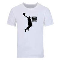 camisetas personalizadas al por mayor-Nueva Cavalier LeBron James Camiseta de algodón para hombre camiseta de manga corta impresa cuello redondo camiseta creativa personalizada tops camisetas DIY-01268D
