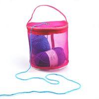 Wholesale knitting yarns crochet threads wholesale - Portable Yarn Crochet Thread Ball Mesh Bag holder with Dispenser Mouth Outdoor Knitting String Line Organizer Toe Handbag sale