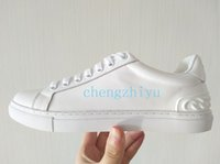 karışık boyut ayakkabıları toptan satış-2018 Yeni Lüks Deri Rahat Ayakkabılar Kadın Tasarımcı Sneakers Erkekler Ayakkabı Hakiki Deri Moda Karışık Renk Kutusu Ile Orijinal Kutusu Boyutu 35-44